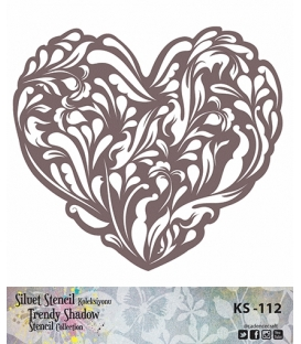 Cadence Siluet Trendy Shadow Stencil KS-112