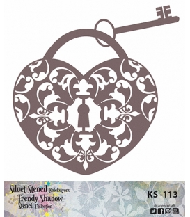 Cadence Siluet Trendy Shadow Stencil KS-113