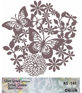 Cadence Siluet Trendy Shadow Stencil KS-141