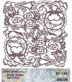 Cadence Siluet Trendy Shadow Stencil KS-142