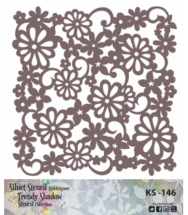Cadence Siluet Trendy Shadow Stencil KS-146