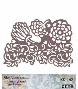 Cadence Siluet Trendy Shadow Stencil KS-147