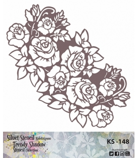 Cadence Siluet Trendy Shadow Stencil KS-148