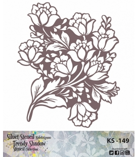 Cadence Siluet Trendy Shadow Stencil KS-149