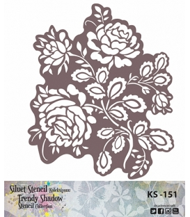 Cadence Siluet Trendy Shadow Stencil KS-151