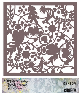 Cadence Siluet Trendy Shadow Stencil KS-154