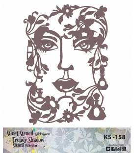 Cadence Siluet Trendy Shadow Stencil KS-158