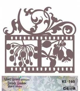 Cadence Siluet Trendy Shadow Stencil KS-160