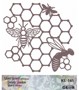 Cadence Siluet Trendy Shadow Stencil KS-161