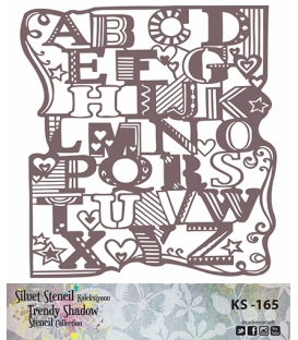 Cadence Siluet Trendy Shadow Stencil KS-165