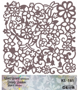 Cadence Siluet Trendy Shadow Stencil KS-181