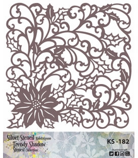 Cadence Siluet Trendy Shadow Stencil KS-182