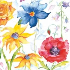 Maki Peçete Suluboya Çiçekler SLOG-028201 Özel Desen 33x33cm