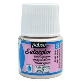 Pebeo Metalik 96 Pembe İnci Setacolor Opak Kumaş Boyası