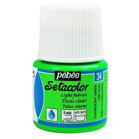 Pebeo Setacolor Transparent 34 Fosforlu Yeşil Kumaş Boyası