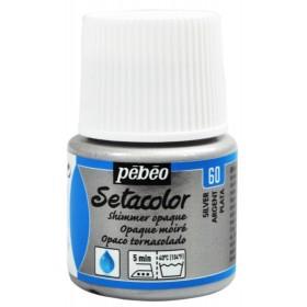 Pebeo Setacolor Opak Kumaş Boyası Metalik 60 Shimmer Silver