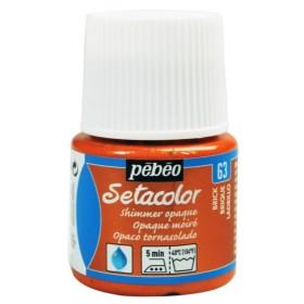 Pebeo Setacolor Opak Kumaş Boyası Metalik 63 Shimmer Brick