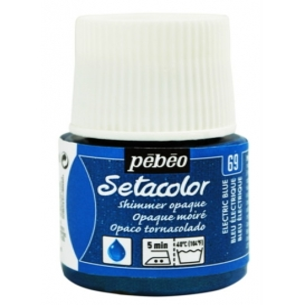 Pebeo Setacolor Opak Kumaş Boyası Metalik 69 Shimmer Electric Blue