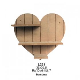Kalp Raf Küçük Boy (35x35cm)