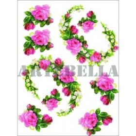 Artebella 1287 Küçük Kolay Transfer Koyu Zemin 17x24 cm