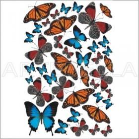 Artebella 943 Soft Transfer Koyu Zemin 23x34 cm
