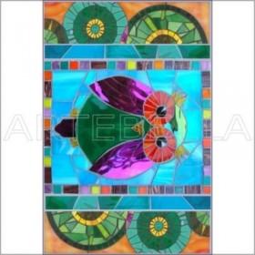 Artebella 1571 Mozaik Transfer Koyu Zemin 23x34 cm