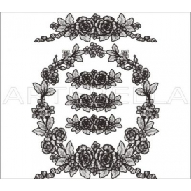 Artebella 1765 Dantel Transfer Koyu Zemin 23x34 cm