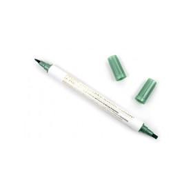 Zig Çift Uçlu Yaldızlı Kaligrafi Kalemi 2 mm + 3.5 mm Metalik Yeşil