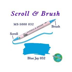 Zig Scroll & Brush Çift Çizgi ve Fırça Uçlu Kaligrafi Kalemi AÇIK MAVİ