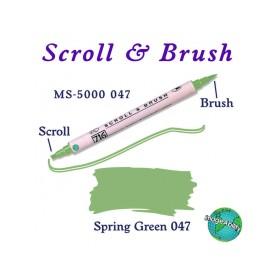 Zig Scroll & Brush Çift Çizgi ve Fırça Uçlu Kaligrafi Kalemi BAHAR YEŞİLİ