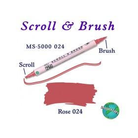 Zig Scroll & Brush Çift Çizgi ve Fırça Uçlu Kaligrafi Kalemi GÜL