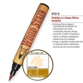 Marvy Ahşap Retöş Kalemi Fırça Uç Açık Meşe(Light Oak)
