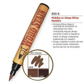 Marvy Ahşap Retöş Kalemi Fırça Uç Ceviz (Walnut)