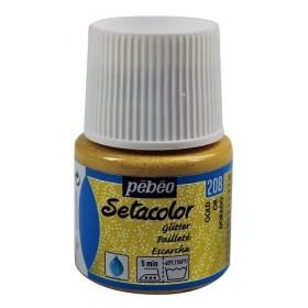 Pebeo Setacolor Glitter Gold 208