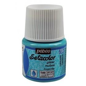 Pebeo Setacolor Glitter Turquoise 206