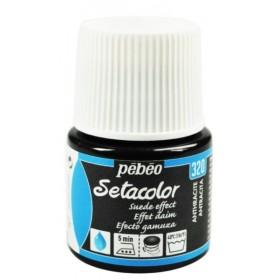 Pebeo Setacolor Suede Effect Anthracite 320 Kumaş Boyası