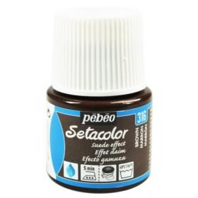 Pebeo Setacolor Suede Effect Brown 316 Kumaş Boyası
