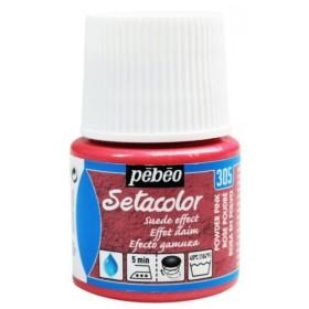 Pebeo Setacolor Suede Effect Powder Pink 305  Kumaş Boyası