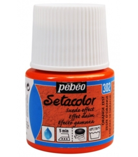 Pebeo Setacolor Suede Effect Orange Zest 302  Kumaş Boyası