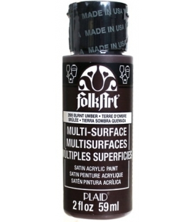 Folkart Multi-Surface Akrilik Boya 2909 Burnt Umber