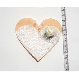 Gelinlik Kalp Model 8cm Keçe Süs