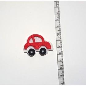 Küçük Araba Kırmızı 3cm Keçe Süs