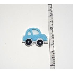 Küçük Araba Mavi 3cm Keçe Süs
