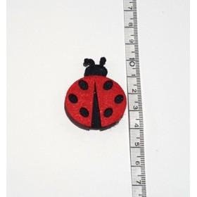 Küçük Uğur Böceği Kırmızı 4cm Keçe Süs
