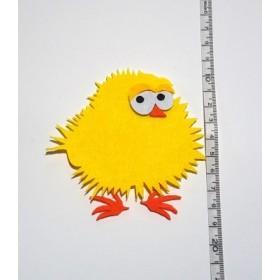 Sarı Tombik Civciv 9cm Keçe Süs