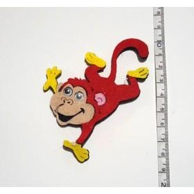 Yaramaz Kırmızı Maymun 8cm Keçe Süs