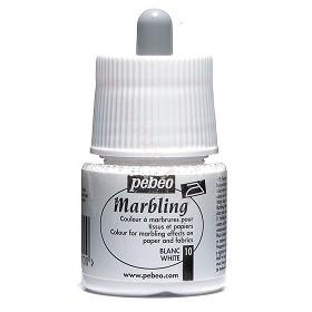 Pebeo Marbling Beyaz Renk Ebru Boyası 45 ml