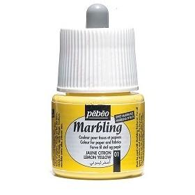 Pebeo Marbling Sarı Renk Ebru Boyası 45 ml