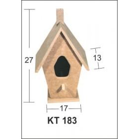 Kuş Evi 27x17x13 cm. Ahşap Obje