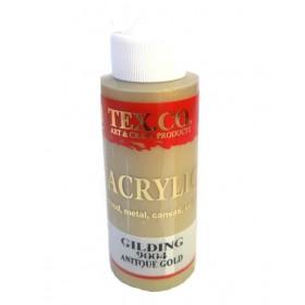 Tex.co 9004 Antik Altın Metalik Akrilik 130 ml